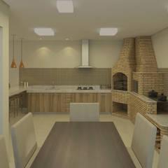 Área Gourmet em Divinópolis - MG: Cozinhas  por Filipe Castro Arquitetura   Design