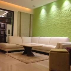 507 meenakshi:  Walls by KEYSTONE DESIGN STUDIOS ,Modern