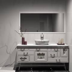 movel de banho: Casas de banho  por Amplitude - Mobiliário lda