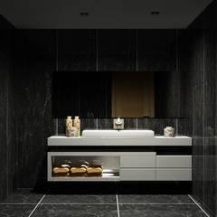 Moveis de banho: Casas de banho  por Amplitude - Mobiliário lda