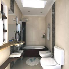 Baño: Baños de estilo moderno por G-R Arquitectura