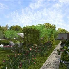Парк-участок в г. Бугуруслан: Сады в . Автор – Студия архитектуры и дизайна Вояджи Дарьи