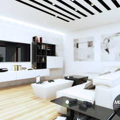 Basen i salon do gier w jednym: styl , w kategorii Basen zaprojektowany przez MONOstudio