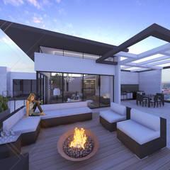 Terrace by CDR CONSTRUCTORA, Modern