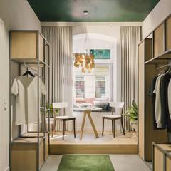 showroom: styl , w kategorii Powierzchnie handlowe zaprojektowany przez Pracownia projektowa Na Antresoli