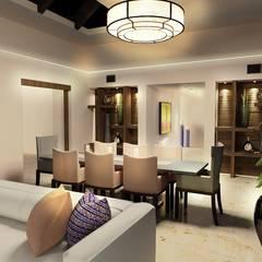Salon Podróżnika: styl , w kategorii Salon zaprojektowany przez Nolk Plan