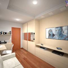 Apartamento VL: Salas multimídia  por KC ARQUITETURA urbanismo e design