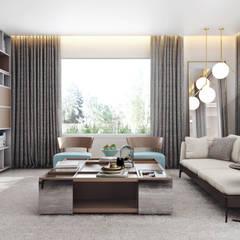 Buen Retiro Eco, Ticino - Svizzera: Soggiorno in stile  di MD Creative Lab - Architettura & Design
