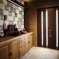Corridor & hallway by 戎馬整合設計, Asian