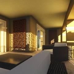 بلكونة أو شرفة تنفيذ Ain Designs Studio