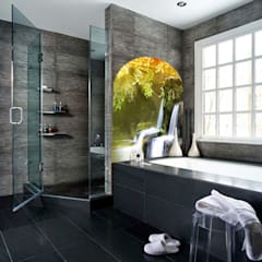 tropical Bathroom by Fotoceramic