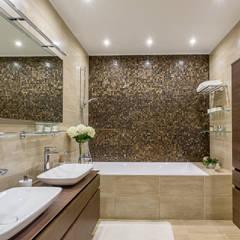 Квартира в стиле фьюжн , реализованный: Ванные комнаты в . Автор – Alexander Krivov, Минимализм