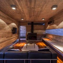 Pabellón Casa Torcuato: Paredes de estilo  por Besonías Almeida arquitectos,Moderno Hormigón