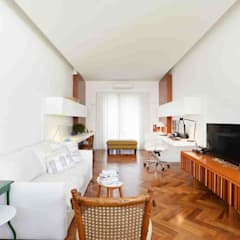 Residência Tanguá: Salas multimídia  por Studio Leonardo Muller,Minimalista