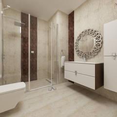 nihle iç mimarlık – Ergun İnşaat Örnek Daire: modern tarz Banyo
