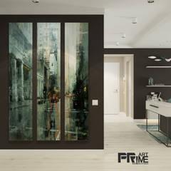 Квартира-студия  в современном стиле. Бюджетный вариант!: Коридор и прихожая в . Автор – 'PRimeART'
