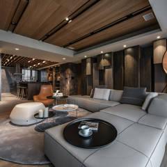 غرفة المعيشة تنفيذ CJ INTERIOR 長景國際設計