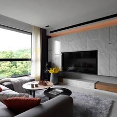 Salas de estilo asiático por DYD INTERIOR大漾帝國際室內裝修有限公司