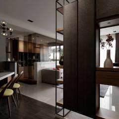 Asian style corridor, hallway & stairs by DYD INTERIOR大漾帝國際室內裝修有限公司 Asian