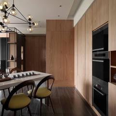 Asian style dining room by DYD INTERIOR大漾帝國際室內裝修有限公司 Asian