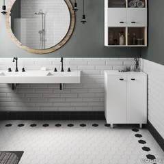Scale White, Black 11,6x10,1: Baños de estilo  de Equipe Ceramicas