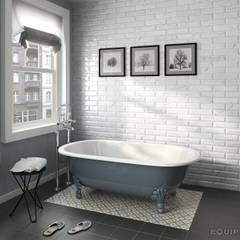 Carrara Wall Tile: Baños de estilo  de Equipe Ceramicas