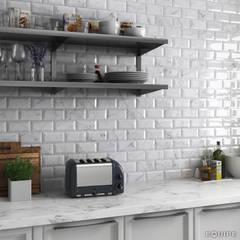 Carrara Metro 7,5x15: Cocinas de estilo clásico de Equipe Ceramicas