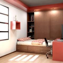 Oficina y Mini Departamentos: Recámaras de estilo  por Arq. Rodrigo Culebro Sánchez,