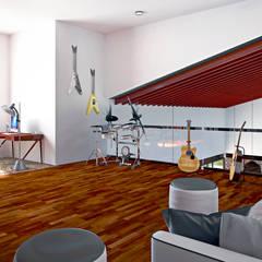 Estudio: Estudios y oficinas de estilo mediterraneo por Laboratorio Mexicano de Arquitectura