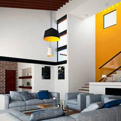 Livings de estilo  por Laboratorio Mexicano de Arquitectura