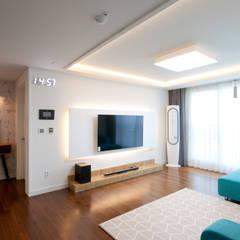 전주인테리어 디자인투플라이 프로젝트 - 전주 효자동 휴먼시아 아이린 아파트: 디자인투플라이의  거실,클래식
