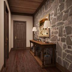Pasillos y vestíbulos de estilo  por Архитектура Интерьера
