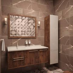 Дом с видом на Кавказские горы: Ванные комнаты в . Автор – Архитектура Интерьера