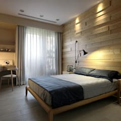 اتاق خواب توسط大言室內裝修有限公司, مینیمالیستیک