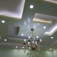 تشطيب شقة بالتجمع الخامس بالقاهرة الجديدة  مع شركة كاسل:  غرفة السفرة تنفيذ كاسل للإستشارات الهندسية وأعمال الديكور في القاهرة