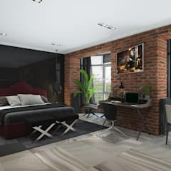 industrial Bedroom by 3D GROUP