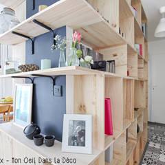 Le couloir a une vraie fonction: Couloir et hall d'entrée de style  par MON OEIL DANS LA DECO