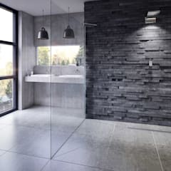 White Crow Studios Ltd Bathroom Portfolio:  Bathroom by White Crow Studios Ltd, Rustic Slate
