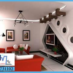 مجموعة التصميمات الداخلية و الديكور رقم 1:  غرفة المعيشة تنفيذ pm architects, حداثي