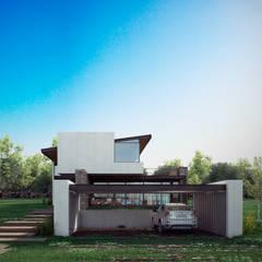 Maisons de style  par BAG arquitectura, Moderne Fer / Acier