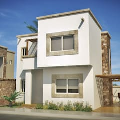 Casa Chametla: Casas de estilo  por Gestec