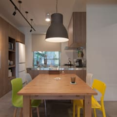 ZNY house:  餐廳 by 珞石設計 LoqStudio