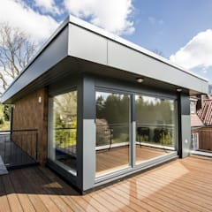 Neubau Einfamilienhaus, Hamburg-Ohlstedt:  Terrasse von Architekturbüro Prell und Partner mbB Architekten und Stadtplaner