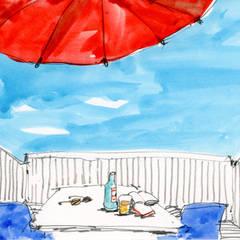 【その先の、さらに先。近未来の生活】: (株)独楽蔵 KOMAGURAが手掛けたテラス・ベランダです。