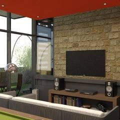 Proyecto de Residencia en Acero: Salas multimedia de estilo  por Arq. Rodrigo Culebro Sánchez, Ecléctico