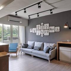 اتاق نشیمن توسط思維空間設計  , اسکاندیناویایی
