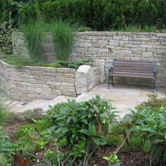 Industrial style garden by Steinbruchbetriebe Grandi GmbH Industrial Stone