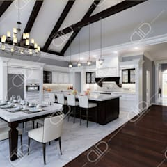 ​Interior Design and Rendering:  Kitchen by Design Studio AiD,Colonial Ceramic