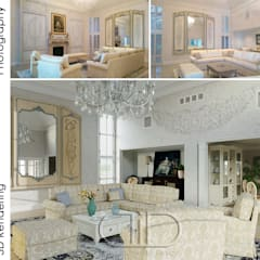 ​Interior Design and Rendering: classic Living room by Design Studio AiD