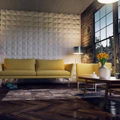 Interior Design and Rendering:  Media room by Design Studio AiD,